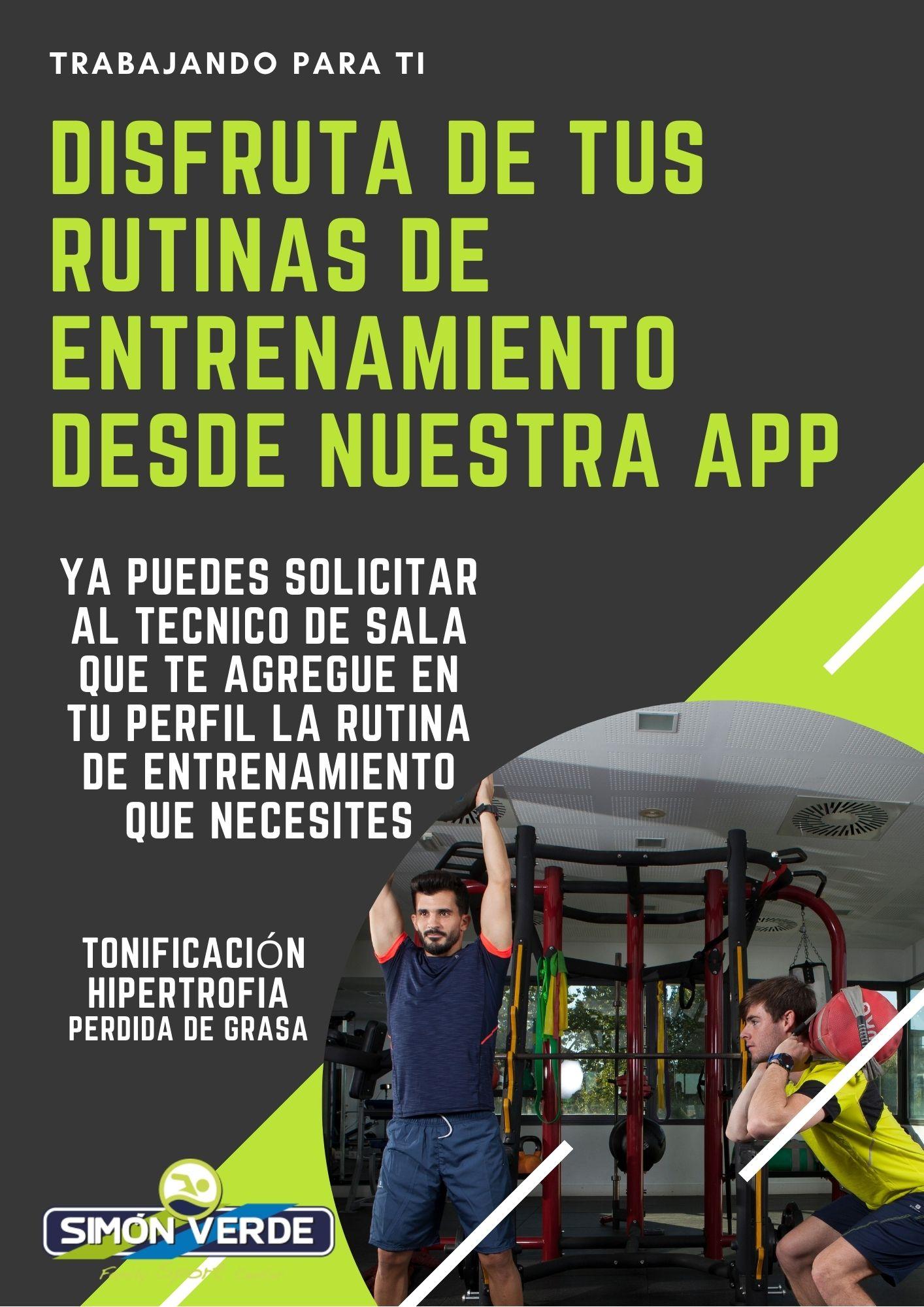Disfruta de tus Rutinas de entrenamiento desde nuestra App
